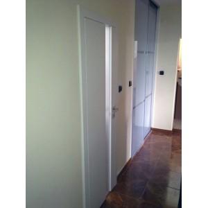 Dvere s kalenym sklom biele